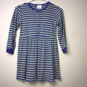 Hanna Andersson Multi Striped Cotton Day Dress 130